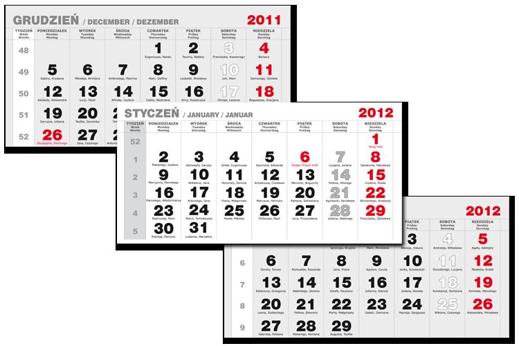 Kalendaria trójdzielne
