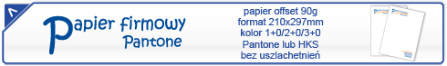 papier firmowy pantone oferta
